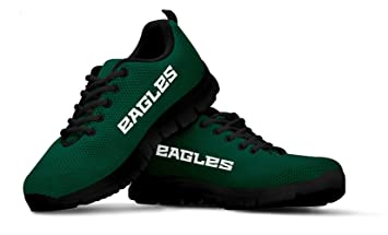 hot sale online e1187 ff230 Philadelphia Eagles Themed Casual Athletic Running Shoe Mens Womens Sizes  Eagle Football Apparel Gear and Gifts for Men Women Fan Merchandise
