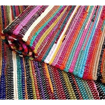 inderart handmade rag rug carpet runner large chindi area rugs 4x6 indian dhurrie