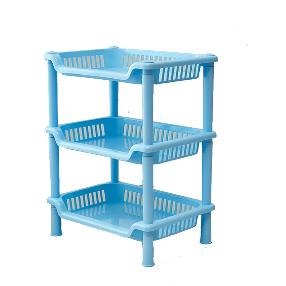 Amazon.com: YIUHART Plastic Small Storage Shelves Plastic Basket ...