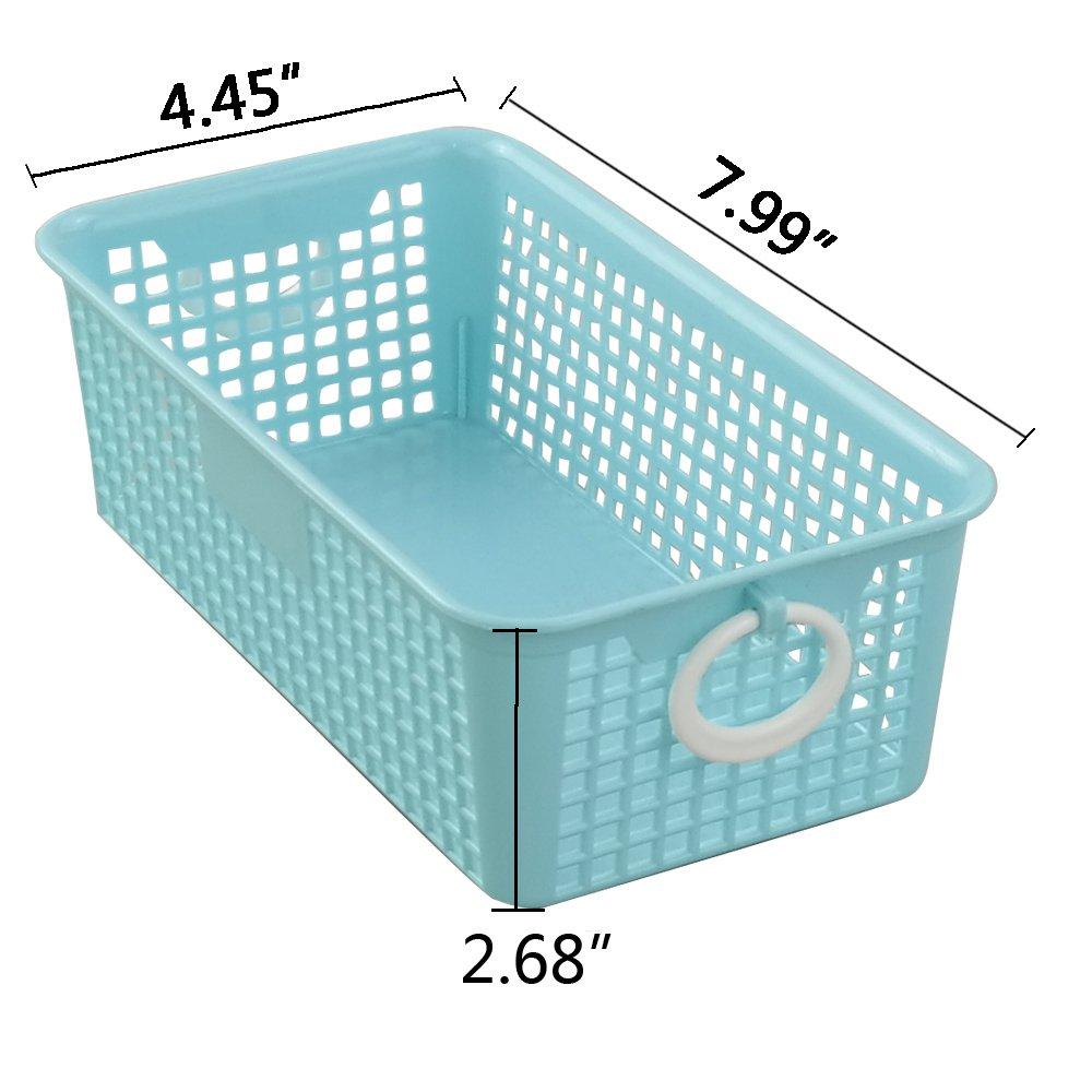6-Pack Morcte Plastic Small Storage Basket