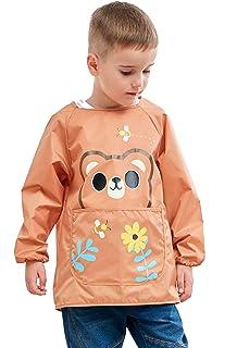Amazon.com: Infantil Babero impermeable Smock Pullover ...