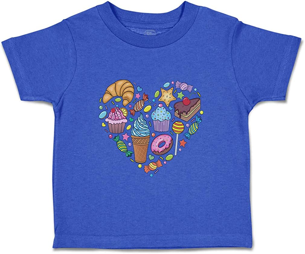 Custom Baby /& Toddler T-Shirt Candies Heart Cotton Boy Girl Clothes