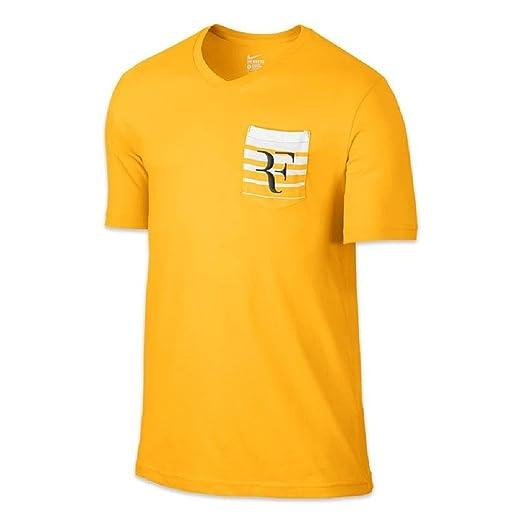 0510bbd30cee Amazon.com  Nike Men s Roger Federer Tennis T-Shirt-Varsity Maize-XL ...