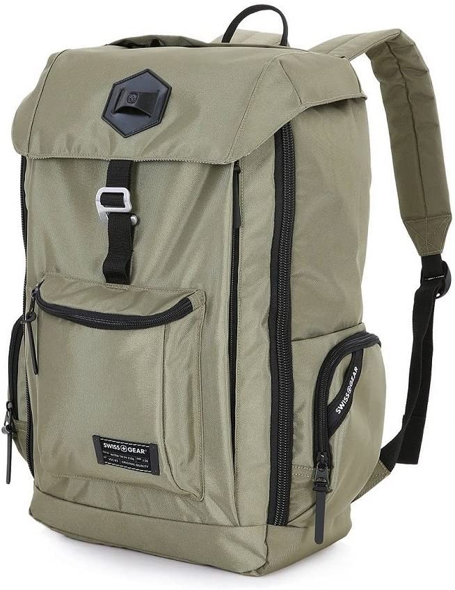 """Swissgear 17"""" Backpack with Tablet/Laptop Sleeves - Olive Green"""