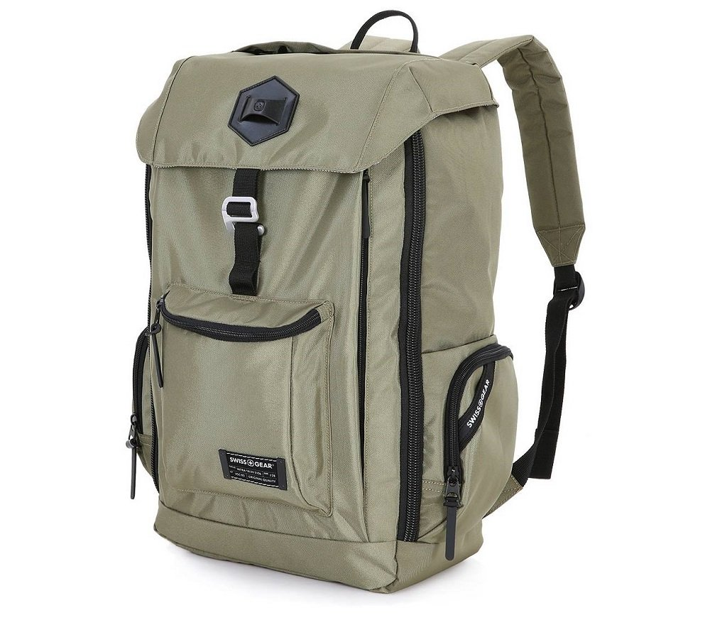 """Swissgear 17"""" Backpack with Tablet/Laptop Sleeves - Olive Green 60%OFF"""