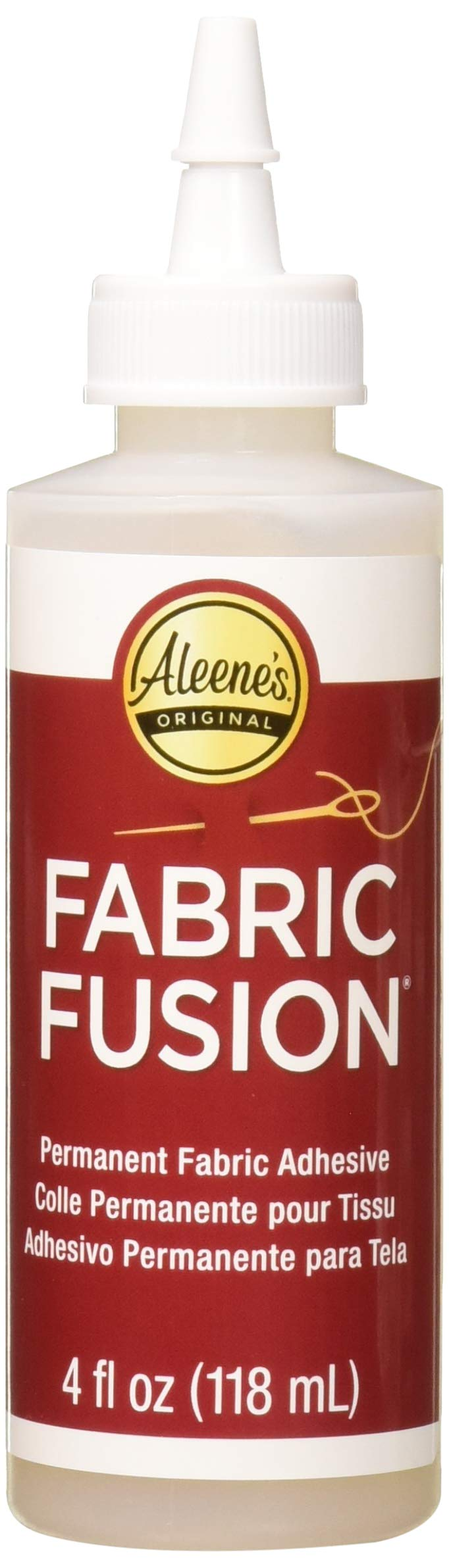 Aleene's Fabric Fusion Permanent Fabric Adhesive 3-Pack, 4 oz. by Aleene's