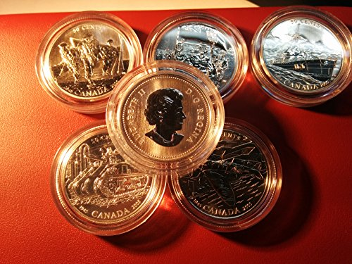 CA 2005 50-Cent Sterling Silver Six-Coin Set 60th Anniversary of the End of the Second World War Mint State