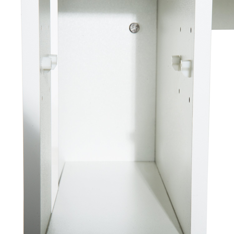 Mesa de PC Mesa de Ordenador Escritorio de Oficina Mesa con Estantes para Hogar Escuela y Oficina Mobiliario 120x60x74cm Madera Blanco