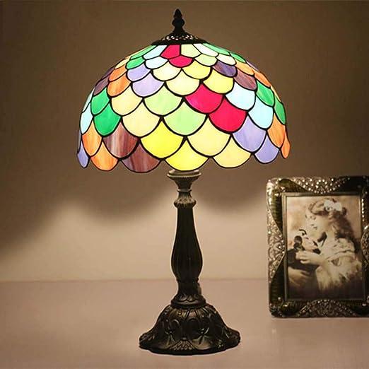 Lámpara De Mesa Estilo Tiffany, Vitral Lámpara De Mesa En Forma De ...