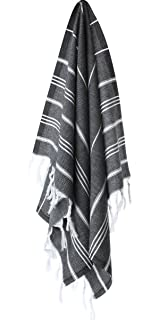 Cacala Hand Face Turkish Towel Pestemal 23x36 Peshtemal Fouta Kitchen Baby Care Black