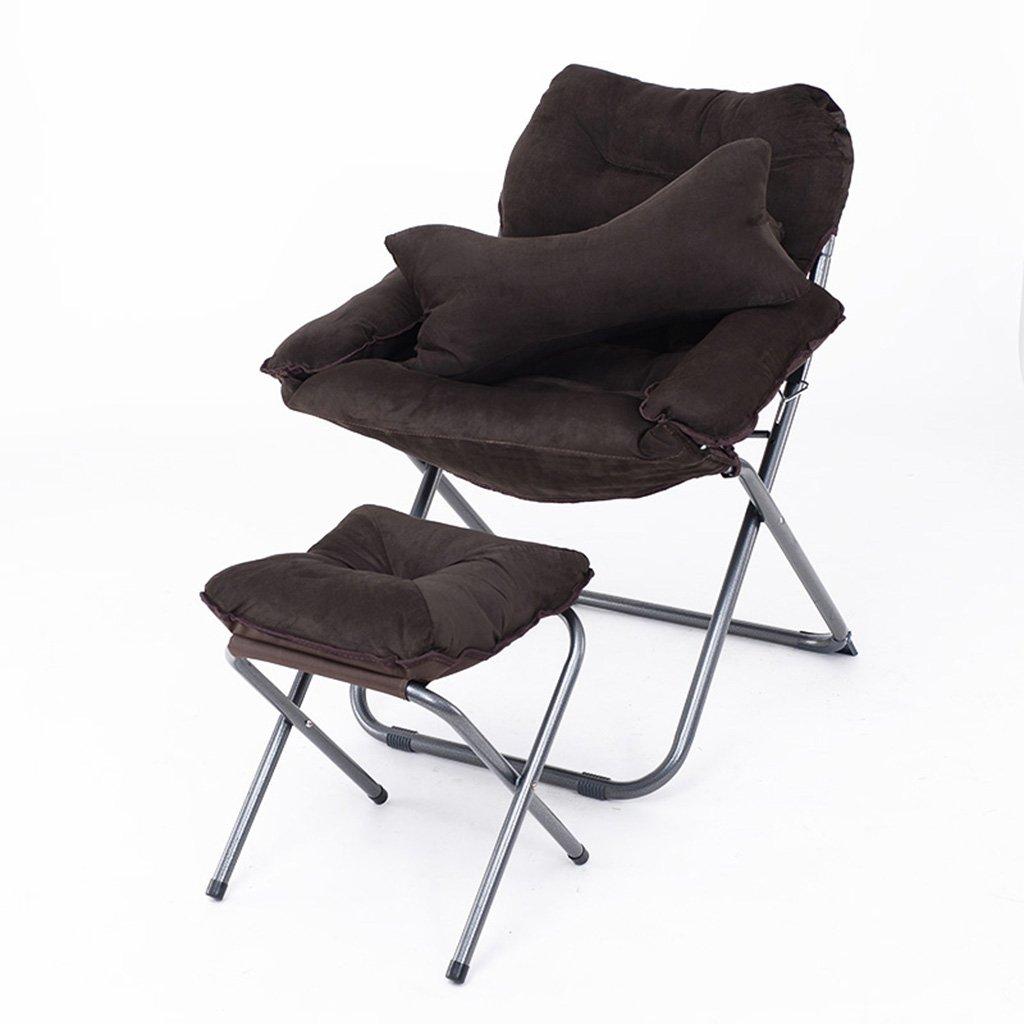 LI JING SHOP - Pliage paresseux canapé chambre salon Mini belle Loisirs balcon Recliner avec un repose-pieds ( Couleur