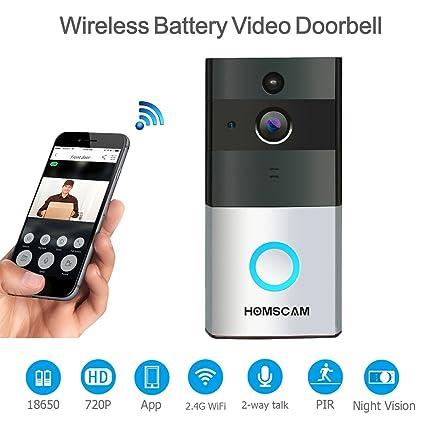 Roboter Wifi Smart Video Intercom Türklingel Kamera Zwei-weg Audio Nachtsicht Pir Motion Detection Alarm Wireless Home Security Türklingel Unterhaltungselektronik