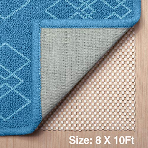 Veken Non-Slip Area Rug Pad Gripper 8 x 10 Extra Thick Pad for Any Hard Surface Floors, Keep Your Rugs Safe and in Place
