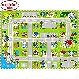 "Meikotu EVA Print foam puzzle mat /Waterproof Interlocking Exercise Tiles 15.8 ""X 15.8"" 3/8 ""Thick¡"