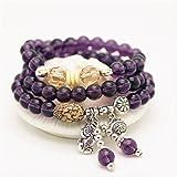 Natural Amethyst Beads 8mm Healing Stones Bracelet
