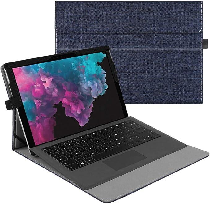 FINTIE Funda para Microsoft Surface Pro 7 (2019)/6/5/4/3 - Múltiples Ángulos Carcasa de Tela con Soporte Compatible con Teclado Type Cover(Teclado No ...