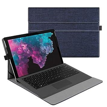 Fintie Funda para Microsoft Surface Pro 6(2018)/Surface Pro 5(2017)/Pro 4/Pro 3 - Múltiples Ángulos Carcasa Función de Soporte Compatible con Teclado ...