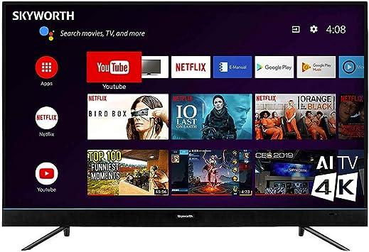 Skyworth 55U5200 55 Pulgadas Serie U5 4K Android Smart UHD TV: Amazon.es: Electrónica