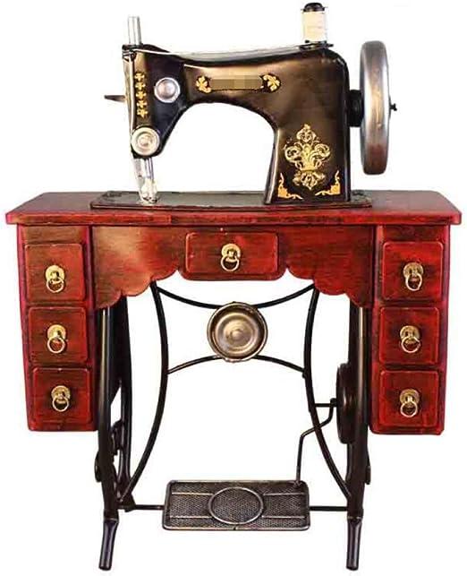 GL&G Hecha a mano ropa de modelo de máquina de coser de arte de hierro Retro tienda escaparate fotografía accesorios Inicio decoración Acentos colección mesa escenas adornos recuerdos,35*15*45cm: Amazon.es: Hogar