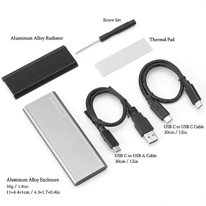 Amazon.com: Adaptador de carcasa USB tipo C M.2 NVMe SSD ...