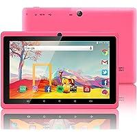 Tablet de 7 Pulgadas Google Android 8.1 Quad Core 1024x600 Cámara Dual Wi-Fi Bluetooth 1GB/8GB Play Store Netfilix Skype Juego 3D Compatible con GMS Certified con Garantía de un año (Rosa)