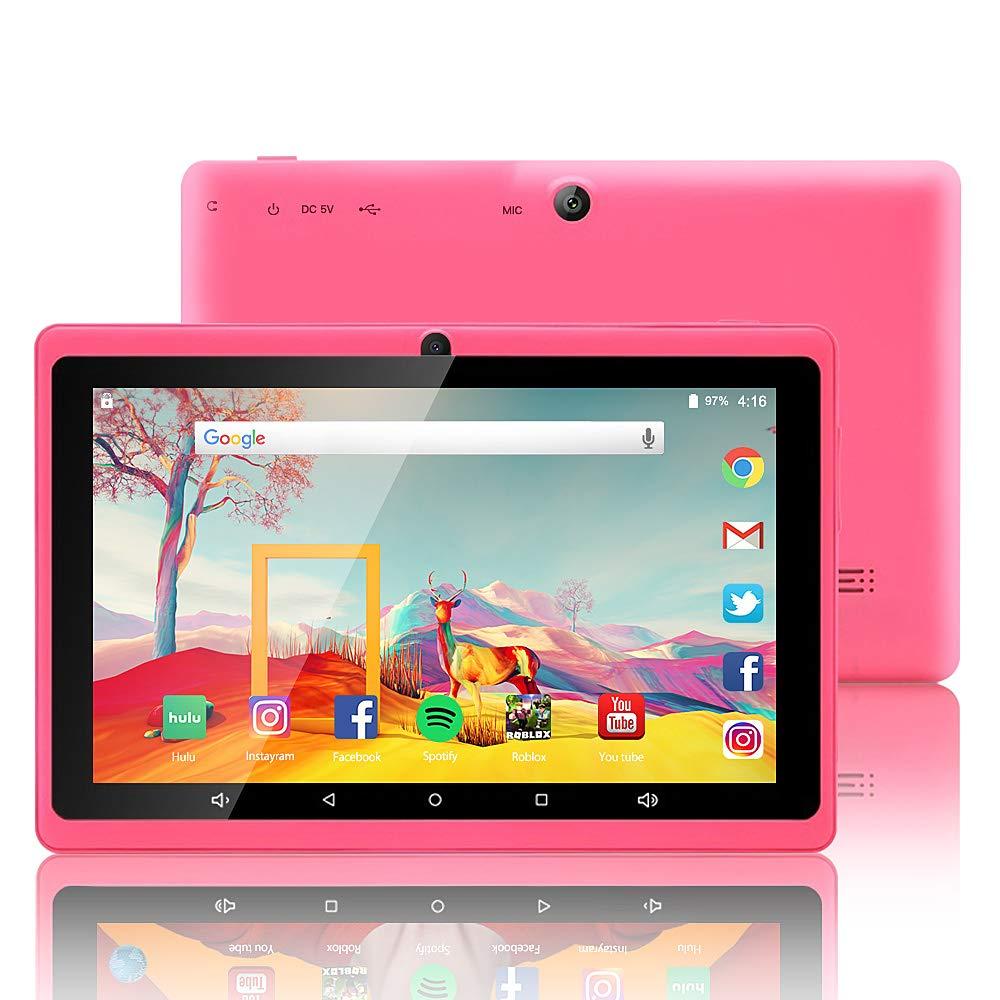 7 Pounces Tablette Enfants 16 Go Android 7.1 Quad Core IPS Display Certifié Google GMS WiFi Bluetooth Double caméras Coque spéciale Enfants (Vert) ZONKO