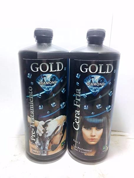 Amazon.com : Queratina Gold Diamond, Cera Fría 1 Litro (Shampoo and Queratina) : Everything Else