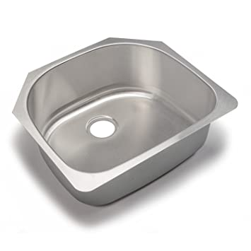 Your sink warehouse designer collection 2375 inch 18 gauge single your sink warehouse designer collection 2375 inch 18 gauge single half moon bowl workwithnaturefo