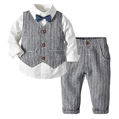 6e0e42d3f Amazon.com  Moyikiss Studio Toddler Baby Boys Gentleman 3Pcs Bowtie ...