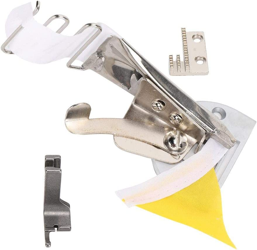 32mm Double Folder Lockstitch Overlock Binding of Curve Edge Folder Bias Binder Foot Sewing Machine Double Fold Angle Binder Set Sewing Machine Binder Sewing Machines Accessories