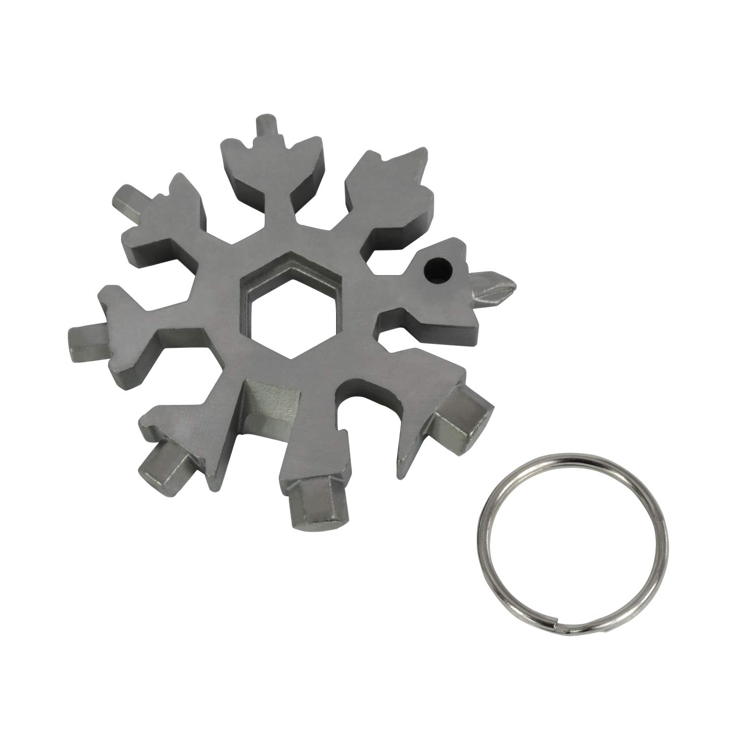 ROSE KULI Snowflakes Multitools - 18 in 1 Multi Tools Portable Wrench Screwdriver Pocket Multi-Tools for Open Key, Silver by ROSE KULI (Image #1)
