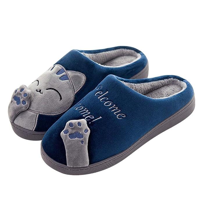 SAGUARO®  Zapatillas Interior Caliente Slippers Mujer Animados