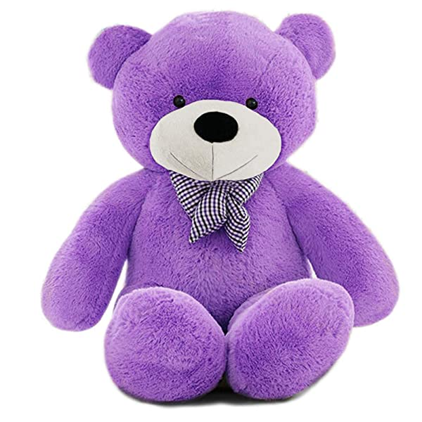 MorisMos Giant Cute Soft Toys Teddy Bear for Girlfriend Kids Teddy Bear (Purple-2, 47 Inch) (Color: Purple-2, Tamaño: 47 Inch)