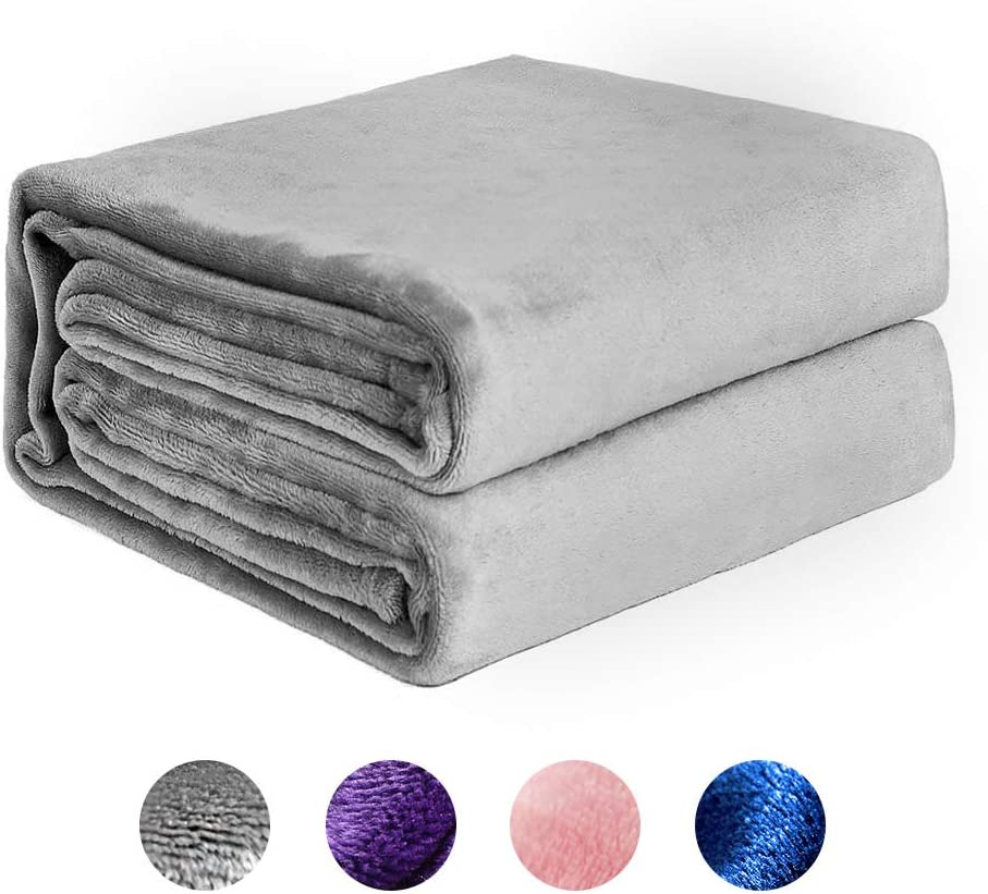 NEWSHONE Mantas Colcha Franela Fleece Colcha Queen Size - Cosy Soft  Mantas de Cama cálidas y Ligeras para sofá Sofá Manta de Microfibra para Todo Uso multipropósito