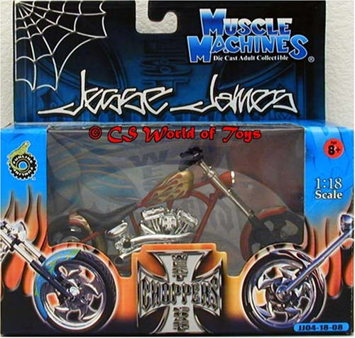 Jesse James (West Coast Choppers) El Diablo 2 1:18 Scale (Jesse James West Coast Choppers)