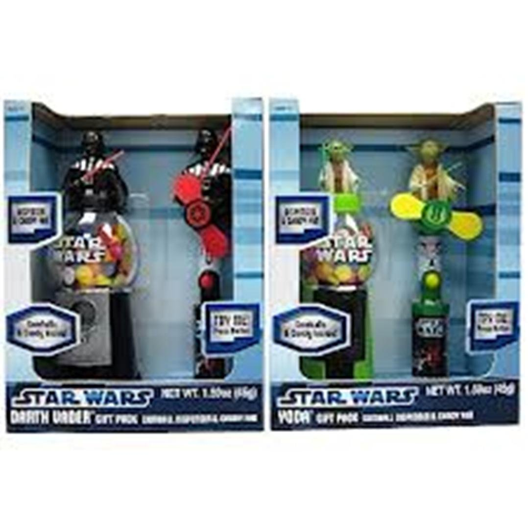 Amazon.com: Star Wars Gumball Dispenser & M&ms Candy Gift Pack Yoda or Darth Vader: Toys & Games