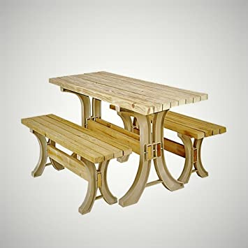 Amazoncom Convertible Picnic Table Outdoor Resin Frame Large Wood - Picnic table parts
