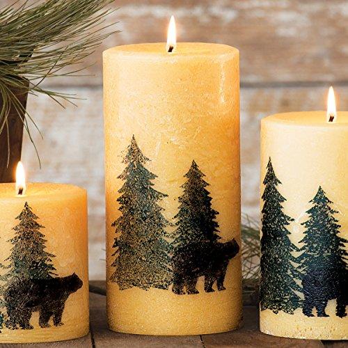 Black Bear Balsam Pine Lodge Candle - Large - Cabin (Silk Screened Silhouette)