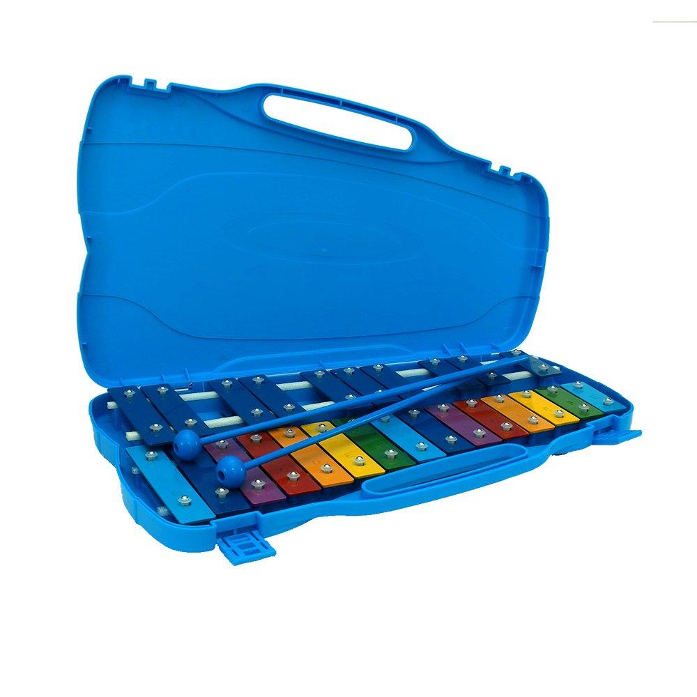 [Ellise] 25 Notes Glockenspiel Xylophone for Students/Kids 25K (Blue)