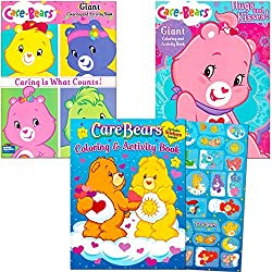 Care Bears Coloring Book Super Set With Stickers (3 Jumbo Books - Over 250 Coloring Pages & 30 Stickers Featuring Care Bears!)