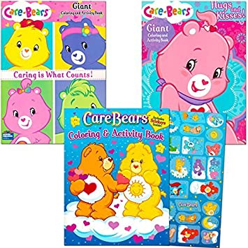 Amazon.com: Care Bears Coloring Book Super Set with Stickers (3 ...