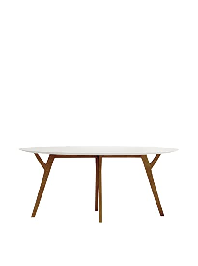 Enjoyable Amazon Com Aeon Furniture Steve Dining Table In White And Download Free Architecture Designs Rallybritishbridgeorg