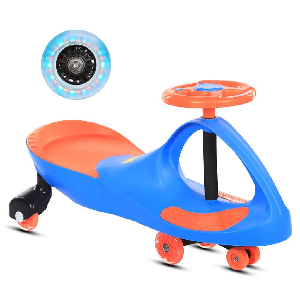 Kinder Twist Auto Baby Yo Auto Mute Flash Rad Schaukel Auto Musik Rutsche Auto 1-7 Jahre Alt 80  35  41 cm (Farbe   Blau) Blau