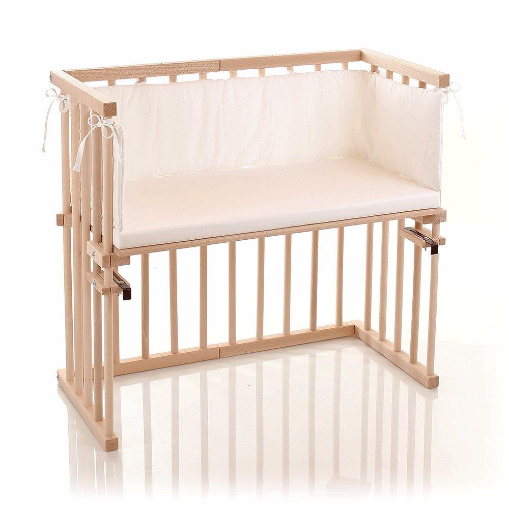 nicht USA zertifiziert//nicht USA zertifiziert Beistellbett // Baby-Bettchen Das Eckige wei/ß lackiert babybay midi 120102