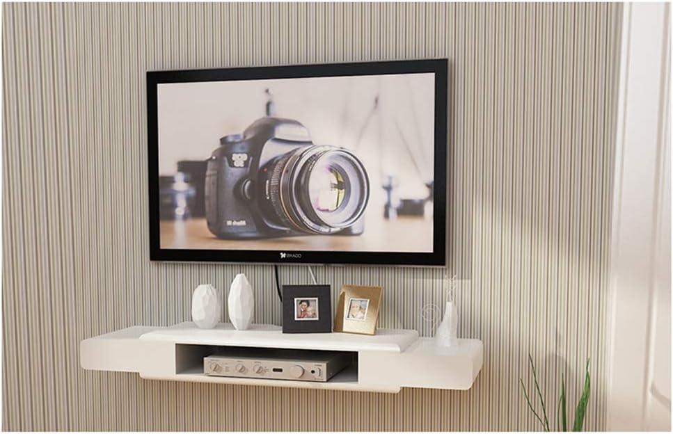 DERTL - Soporte de Pared pequeño para televisor, Marco de Pared, Soporte de TV, Router, fotografía, Juguete, estantería de Almacenamiento, Consola de TV, decoración de Pared # (90 x 7 cm): Amazon.es: