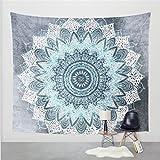 2017 Popular Boho Style Home Living Tapestry Beautiful Living Room/Bedroom Decor Multi Functional Hanging Blanket (71X91Inch, Flower5)