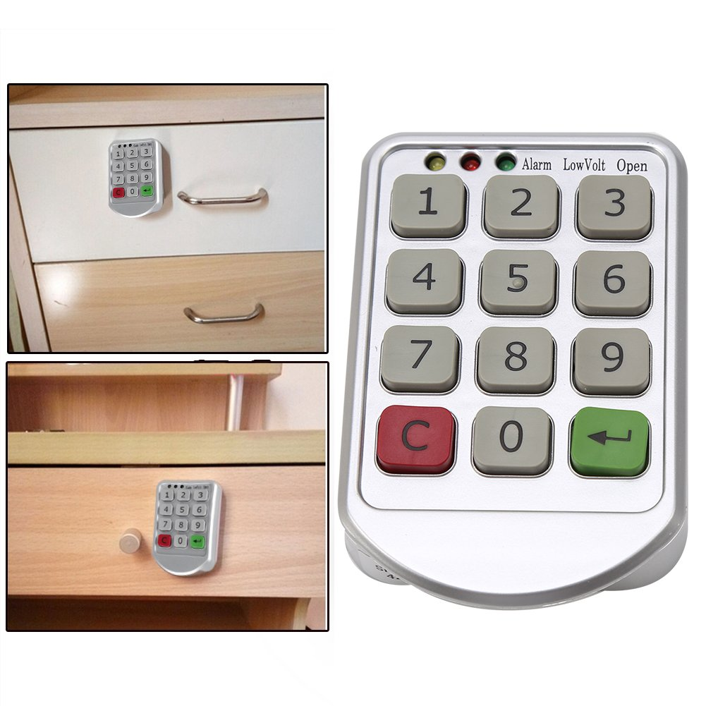 Intelligent Digit Keypad Password Door Code Locks Keyless Locker Safety Security Lock Drawer Electronic Cabinet Lock Set