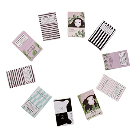 Miss and Mams 10 Packs 150 Sheets Portable Disposable Travel Hiking Washing Hand Bath Toiletry Paper Soap Sheets Random Color