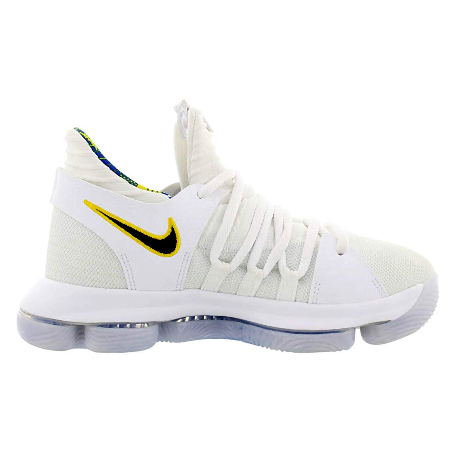brand new 5d8eb b7db2 Nike Zoom KD10 LMTD NBA Grade School Basketball Shoes (3.5 M US Big Kid,  White/Game Royal/University Gold)