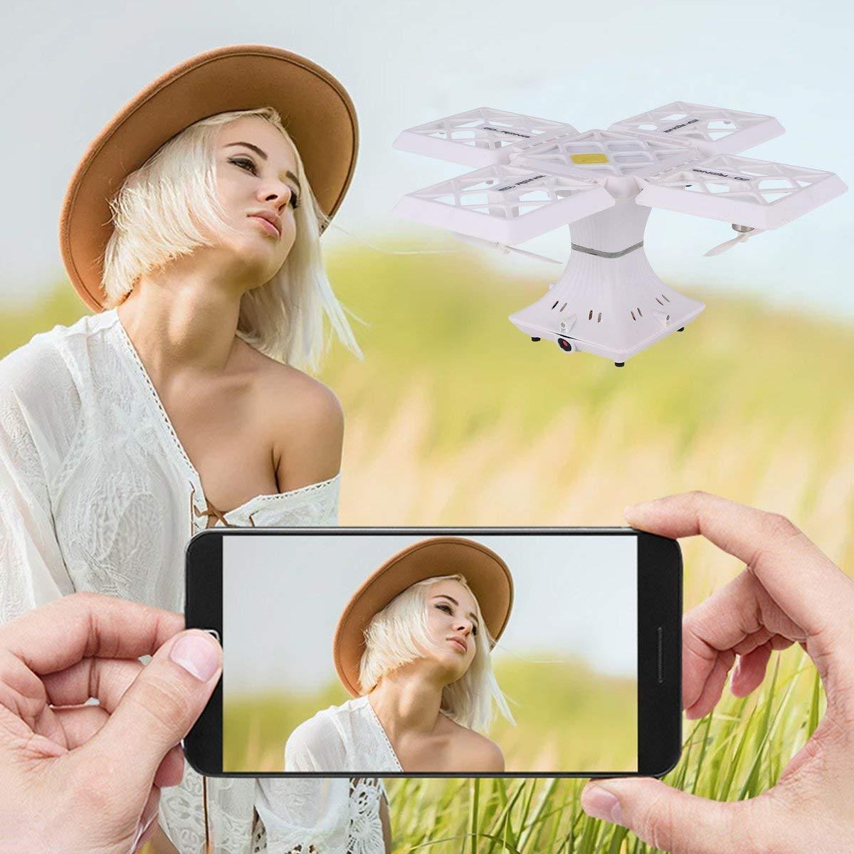 Gugutogo Drohne Mit Kamera 414 Selfie FPV Faltbare Faltbare Faltbare RC Drohne Höhe Halten 0.3MP WiFi Kamera 3D Flips (Schwarz) 8f595b